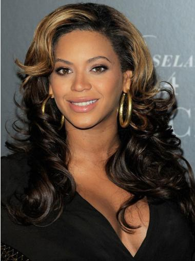 """18"""" Long Wavy Indian Remy Hair Full Lace Wigs"""