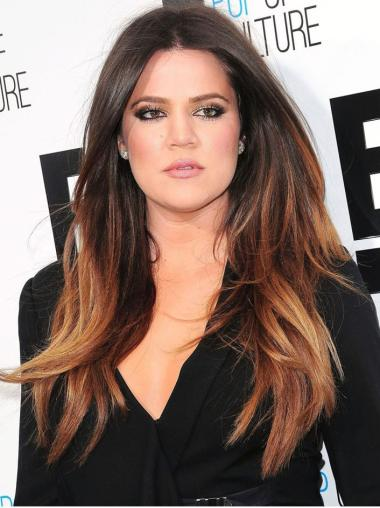 "20"" Long Straight Full Lace Wigs Women Ombre Wigs"
