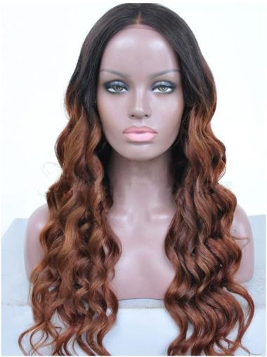 """24"""" Long Wavy Full Lace Wigs Ombre African American Wigs"""