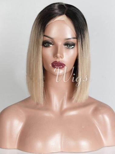 """14"""" Chin Length Straight Bobs Ombre Wigs"""