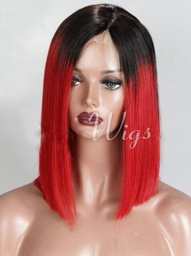 Bobs Chin Length Straight Ombre Full Lace Wigs