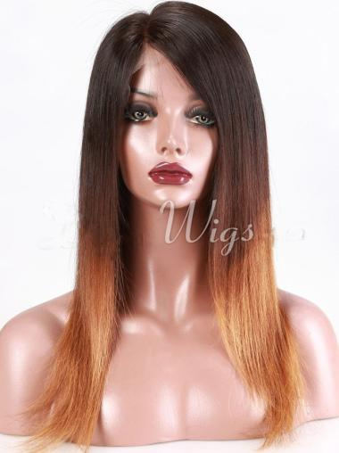 """18"""" Long Straight Ombre Wigs Full Lace Wigs"""