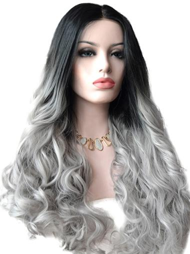 "22"" Wavy Long Lace Front Ombre Wigs"