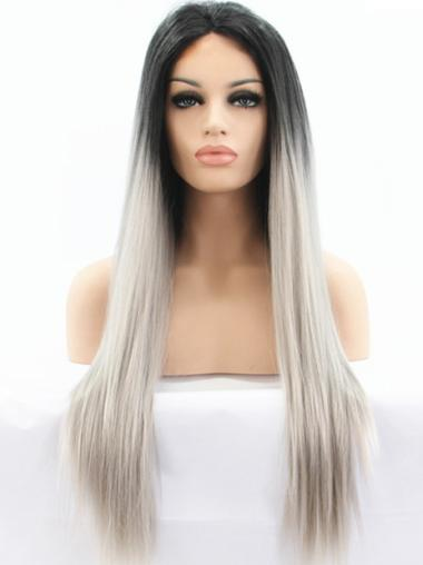 """20"""" Straight Long Lace Front Two Tone Wigs"""