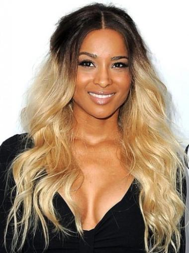 "20"" Wavy Long Full Lace Ombre Wigs"