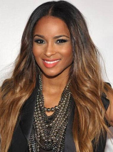 """24"""" Wavy Long Lace Front Ombre Wigs"""