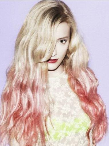 "26"" Wavy Long Full Lace Two Tone Wigs"