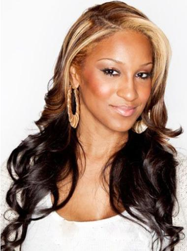 "22"" Wavy Long Lace Front Two Tone Wigs"