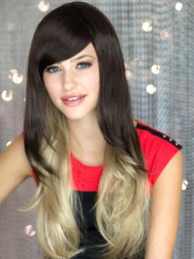 """22"""" Wavy Long Lace Front Ombre Wigs"""