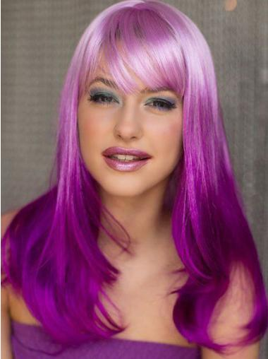 """18"""" Wavy Long Lace Front Two Tone Wigs"""