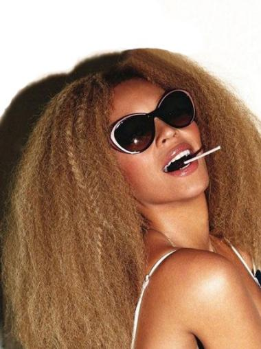 New Beyonce Afro Curl 16 Inches Human Hair Lace Wig