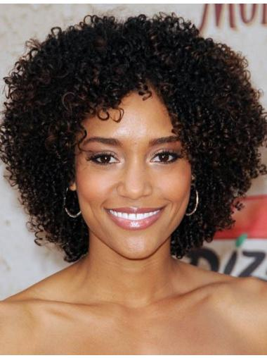 New Fashion Charm Afro Short Kinky Curly Human Hair Wig