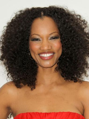 Afro Curl 150% Density Human Hair Lace Front Wigs