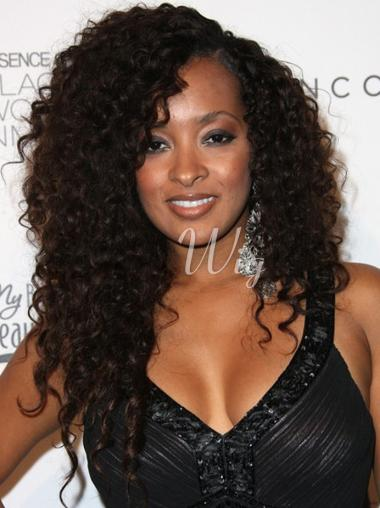 22 Inch Indian Remy Hair Full Lace Kinky Curly Wigs