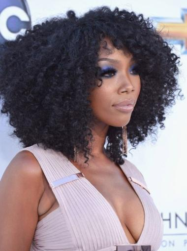 Remy Human Hair Full Lace Wig Kinky Curly Wigs Brandy Norwood