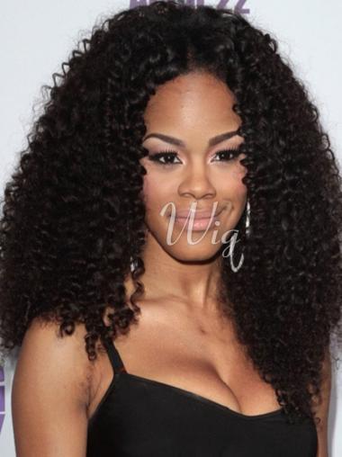 Teyana Taylor Kinky Human Hair Full Lace Wig African American Wigs