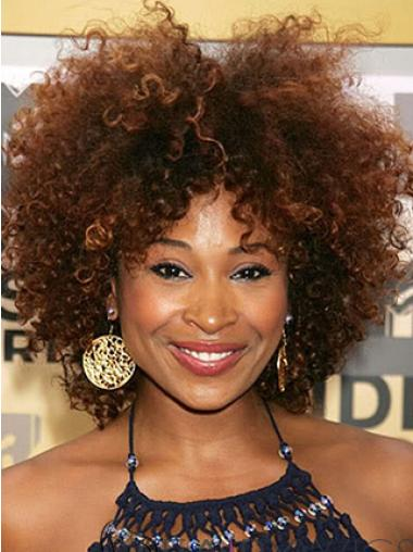 Super Charming Short Kinky Brown African American Wigs for Women