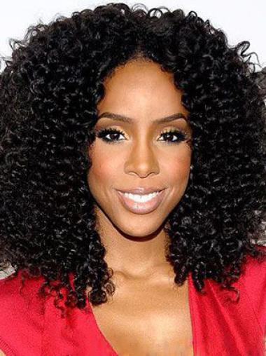 16 Inch Black Virgin Brazilian Hair Wigs