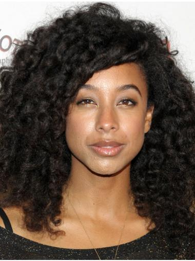 New Style Medium Kinky Sepia African American Lace Wigs for Women