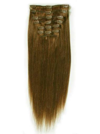 Remy Human Hair Straight Brown Great Clip in Hair Extensions