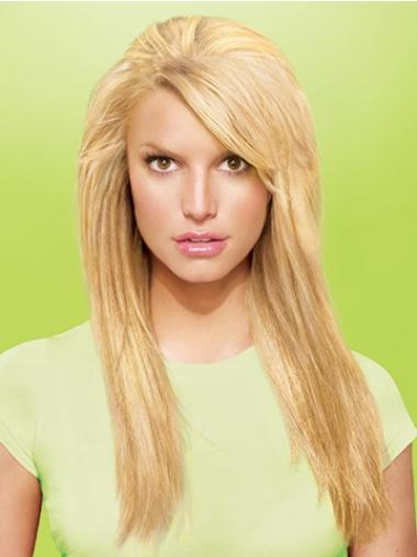 Synthetic Straight Blonde Flexibility Clip in Hair Extensions