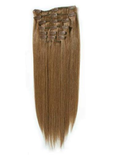 Blonde Straight Suitable Clip in Hair Extensions