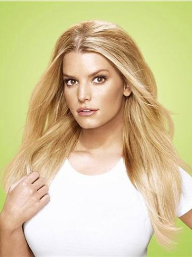 Synthetic Straight Blonde Gentle Clip in Hair Extensions