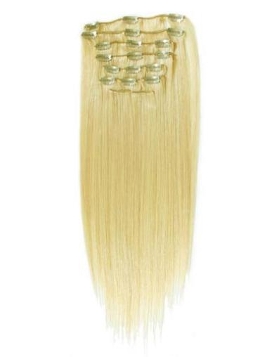 Blonde Straight Elegant Clip in Hair Extensions