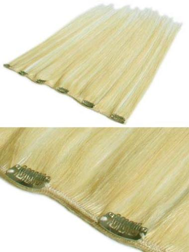 Remy Human Hair Straight Blonde Online Clip in Hair Extensions