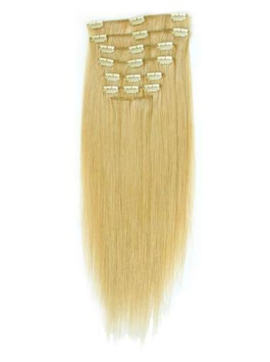 Remy Human Hair Straight Blonde Great Clip in Hair Extensions