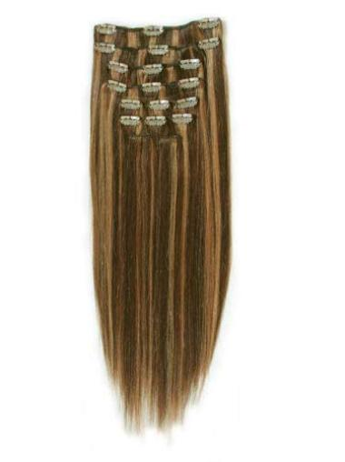 Remy Human Hair Straight Stylish Clip in Hair Extensions