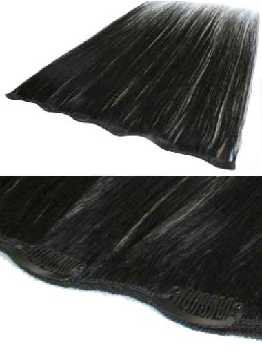 Remy Human Hair Straight Black Cool Clip in Hair Extensions