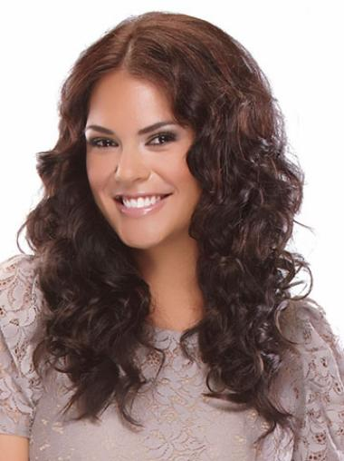 Synthetic Curly Brown Fashionable Clip in Hair Extensions