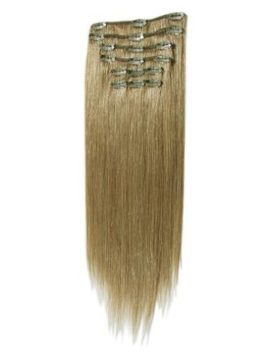 Remy Human Hair Straight Cheap Clip in Hair Extensions