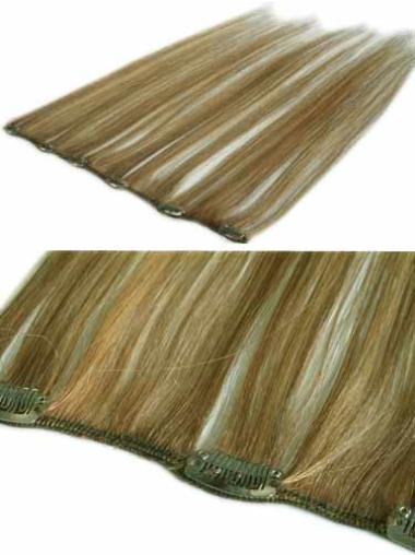 Blonde Straight Style Clip in Hair Extensions