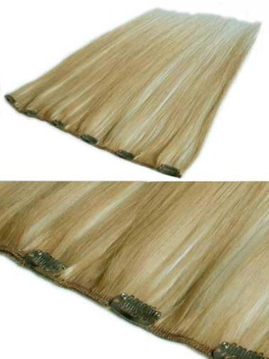 Remy Human Hair Straight Blonde Perfect Clip in Hair Extensions