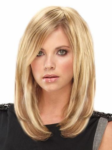 Remy Human Hair Straight Blonde Polite Clip in Hair Extensions