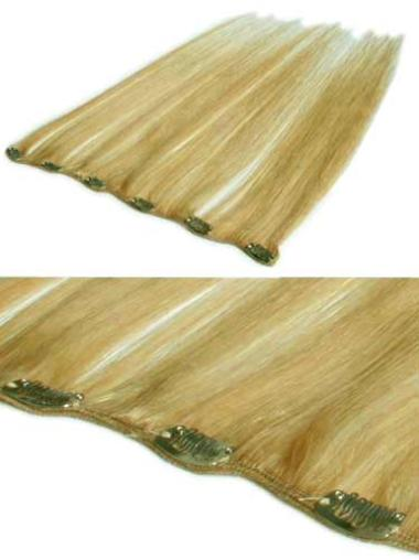 Remy Human Hair Straight Blonde Trendy Clip in Hair Extensions