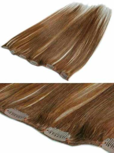 Remy Human Hair Straight Pleasing Clip in Hair Extensions
