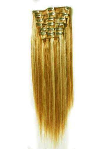 Blonde Straight Top Clip in Hair Extensions