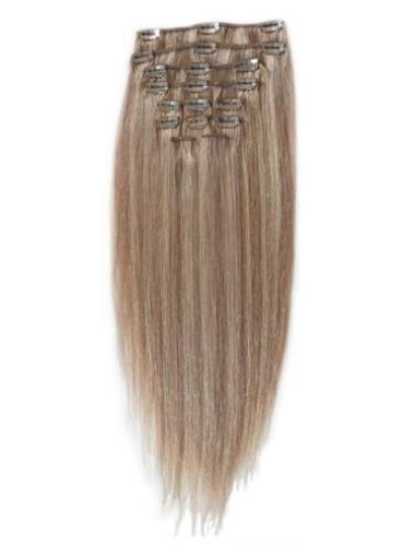 Remy Human Hair Straight Blonde No-fuss Clip in Hair Extensions