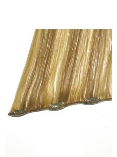 Remy Human Hair Straight Blonde Elegant Clip in Hair Extensions