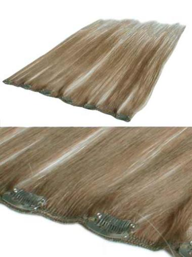 Remy Human Hair Straight Blonde Natural Clip in Hair Extensions
