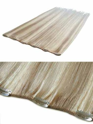 Remy Human Hair Straight Blonde Incredible Clip in Hair Extensions