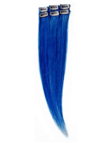 Remy Human Hair Straight Black Affordable Clip in Hair Extensions