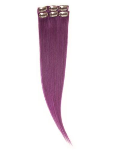 Remy Human Hair Straight Black Braw Clip in Hair Extensions