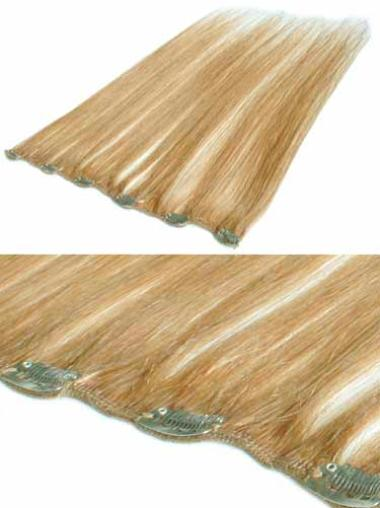 Remy Human Hair Blonde Good Clip in Hair Extensions