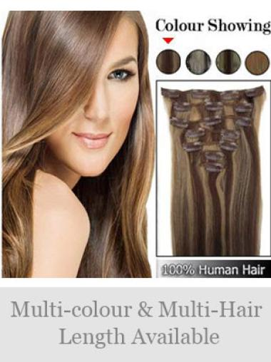 Remy Human Hair Straight Amazing Clip in Hair Extensions