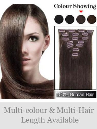 Remy Human Hair Straight Auburn Gentle Clip in Hair Extensions