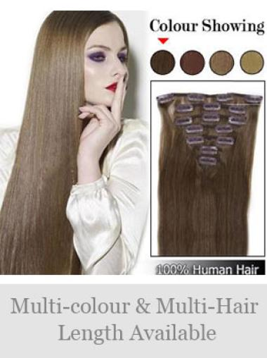 Remy Human Hair Straight Glamorous Clip in Hair Extensions